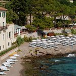 The hotel enjoys its own stretch of sand on the secluded Bay of Mazzarò