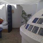 parte de la terraza de la suite Haima