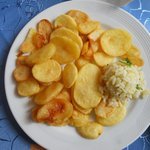Kartoffelscheiben frittiert