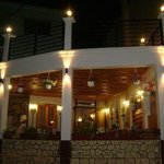 Greek restaurant with roof terrace.