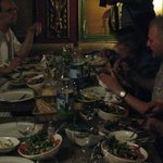 Dinner in the restaurant Leila - 2008  - Serbian mountaineers