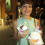 Different types of gelato