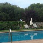 A tiny quiet pool.