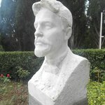 The bust of Chekhov at the entrance of the property
