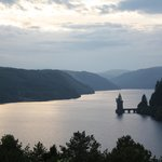 Lake Vyrnwy view from the Dam at sunset