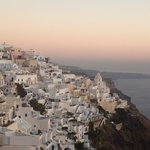 Sunset over the caldera in Fira
