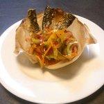 filet de maquereau aux légumes marinés