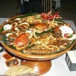plateau de fruits de mer ,plage de jimbaran,restaurant de droite beaucoup moins  cher