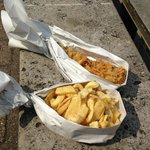 """Haddock and chips - """"open"""""""