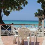 Vista spiaggia dal ristorante