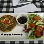 Summer special tart and salad