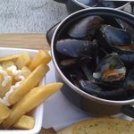 very small portion of Exmouth mussels,