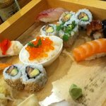 some of the sushi assortment