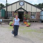 Ann outside the entrance to the Anson Engine Museum.