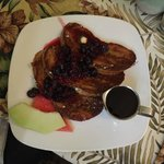 Nick's french toast w/fruit compote (this took 1hr 15min??)