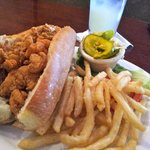 Combo (shrimp and crawfish) po-boy sandwich