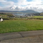 the view from our window, looking down to stromness, Hoy in the distance.