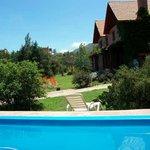 piscina, jardin y exterior