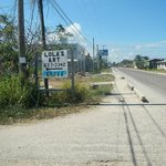 Road sign to Lola's in Seine Bight