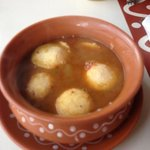 rice cake dumplings in soup to start