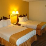 Our double rooms with an activity center & a desk area