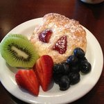 Just the pastry and fruit part of the breakfast... yummy!