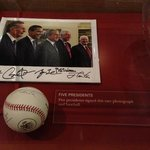 Five Presidents photo and baseball