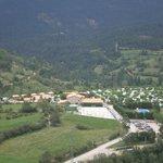 Vista del camping desde el castillo de Gósol