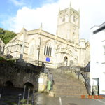 Ancient Church in Axbridge Square giving the beautiful sound of bell ringers