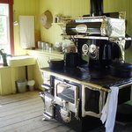 kitchen stove of historical home