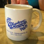 breakfast at Blueberry Muffin across the street