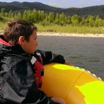 Scenic Float on the Snake River - Teto Mountains in the background