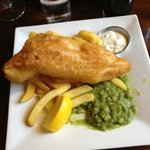 Fish, Chips and Mushy Peas at Napoleon's
