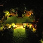 Nightime view of the garden