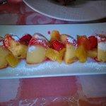 Postre de pastel de queso manchego