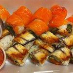 Supreme salmon & Red dragon rolls