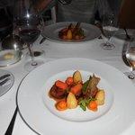 prato servido no restaurante