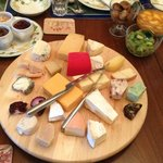 The morning cheese platter.