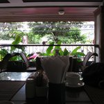 Looking out on Soi 4 from the lovely breakfast verandah.