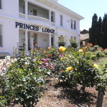 Princes Lodge and Roses in Bloom