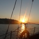 Coucher du soleil sur le voilier