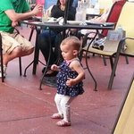 Even the babies dance at Wednesday night music at the Pattie Shack!