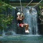 Zipline over the YS water falls