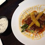 Beef teriyaki and rice