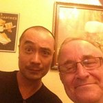 TV and Movie star Ta Vu Thu and me...pals having suds