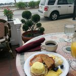 Breakfast on the veranda