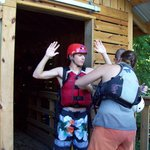 Jennifer helps us to get the life jackets to fit just right