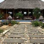 Restaurant area overlooking the pool
