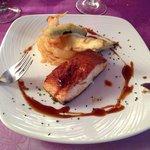 Salmón parrilla con tempura verduras (menú)