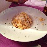 Risotto chipirones y gambones (menú)